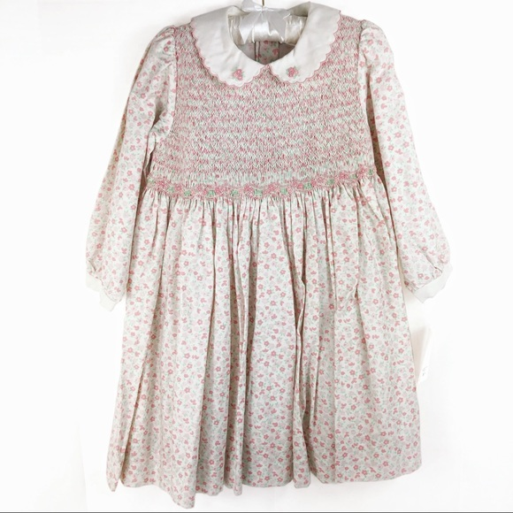 Friedknit Creations Other - Carriage Boutiques Girl's Floral Smocked Dress